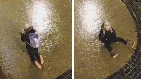 Blitzeis sorgt für Slapstick-Szenen auf den Straßen von Kiew