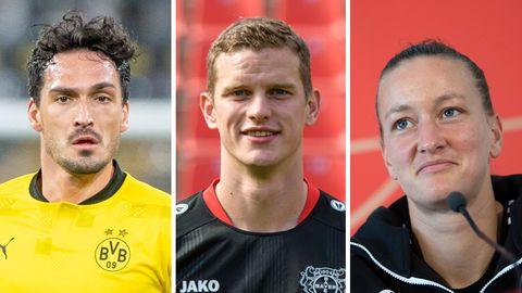 Dortmunder Mats Hummels, Leverkusener Sven Bender und Wolfsburger Torfrau Almuth Schult