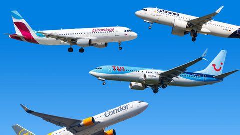 Das sind Deutschlands wichtigste Fluggsellschaften