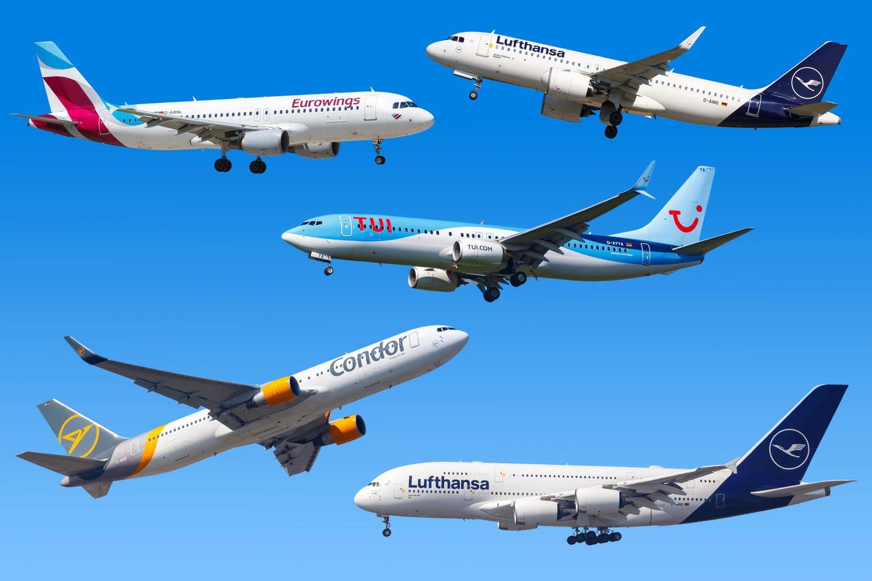 Fotomontage: Das sind Deutschlands wichtigste Fluggsellschaften