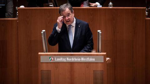 Ministerpräsident Armin Laschet (CDU)im nordrhein-westfälischenLandtag