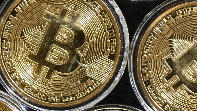 Eine physische Nachahmung der Kryptowährung Bitcoin
