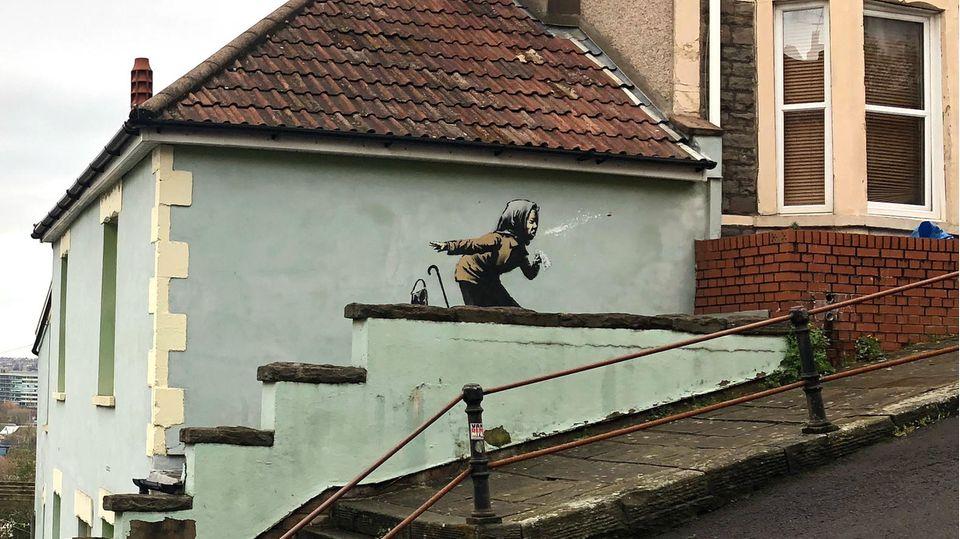 Banksy-Bild sei Dank: Eigentümerin will Haus nicht mehr verkaufen