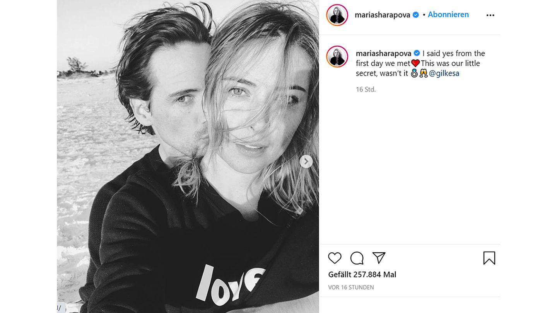 Vip News: Tennisspielerin Maria Sharapova verlobt sich mit Alexander Gilkes