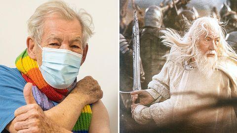 """""""Gandalf""""-Schauspieler Ian McKellen gegen Coronavirus geimpft: """"Ich fühle ich mich sehr besonders"""""""