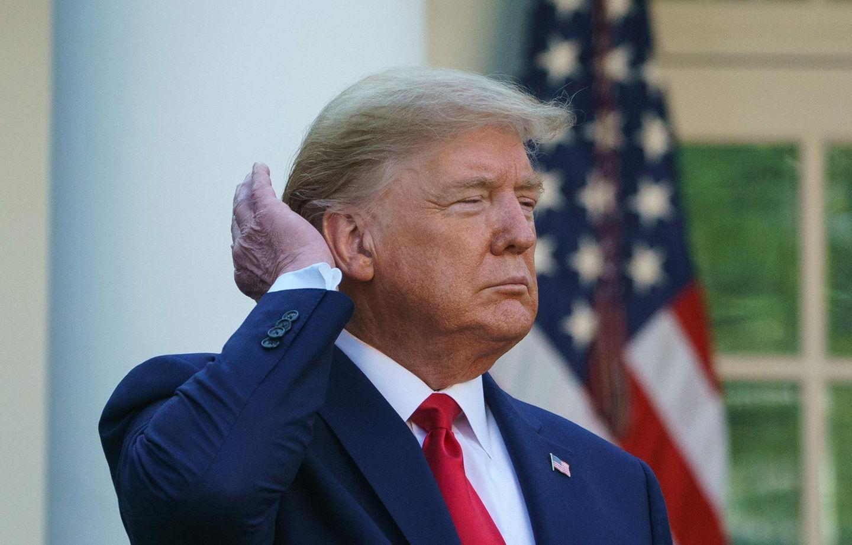 US-Präsident Donald Trump im Rosengarten des Weißen Hauses