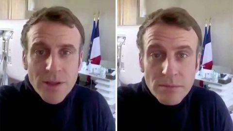 Macron meldet sich mit Videobotschaft aus Quarantäne