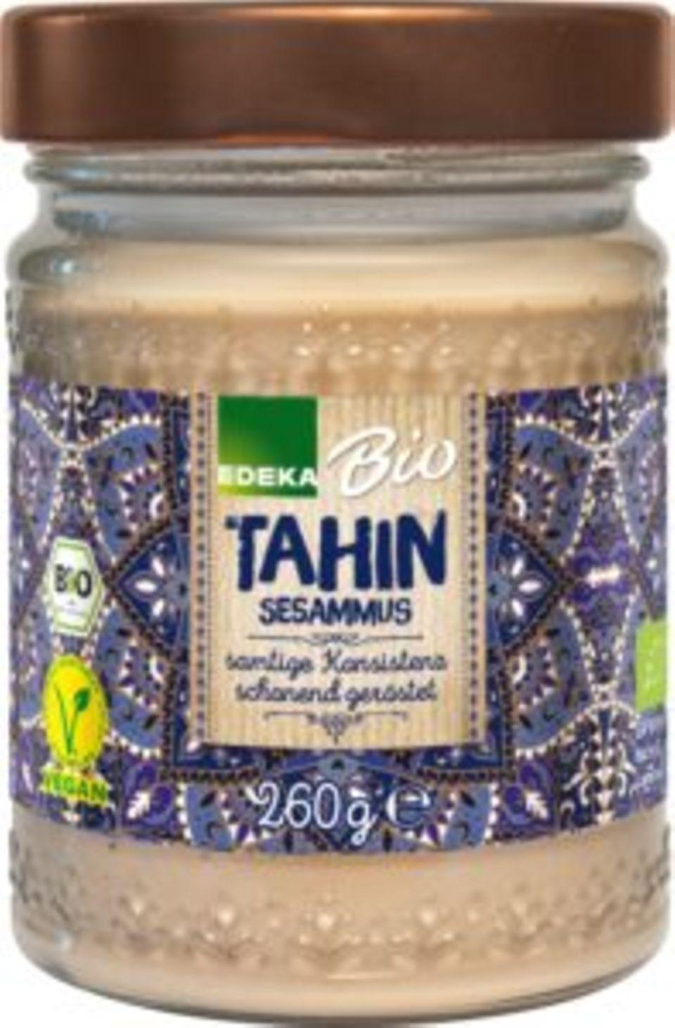 Rückrufe und Produktwarnungen: Hersteller ruft Edeka-Sesammus (Tahin) zurück