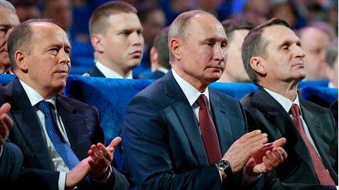 Alexander Bortnikow, Wladimir Putin, Sergei Naryschkin