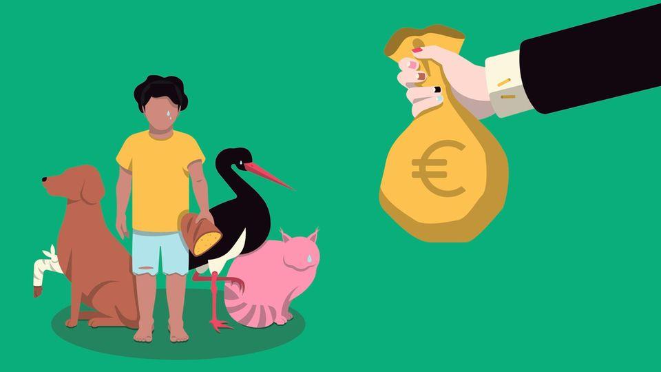 'Gutes Tun' Spende, Geld, Geldscheine, Hilfe