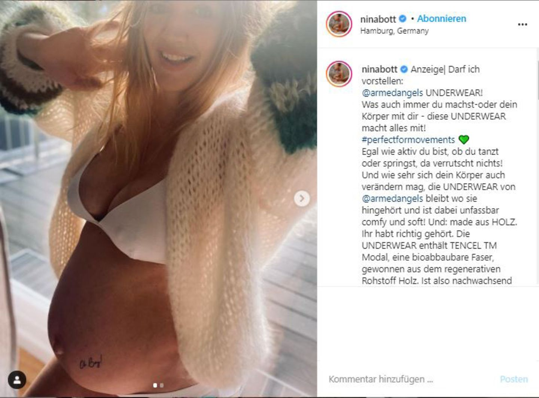 Vip-News: Nina Bott verrät das Geschlecht ihres ungeborenen Kindes