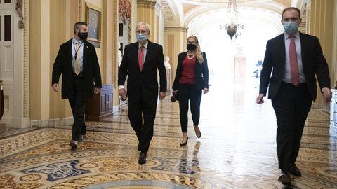 Morgenlage: Der Republikaner Mitch McConnell im Capitol von Washington