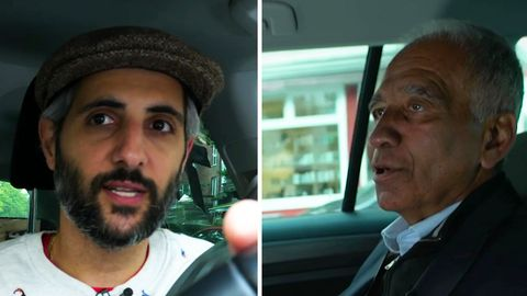 """Mojib Latif im """"Alman Taxi"""" von Michel Abdollahi"""
