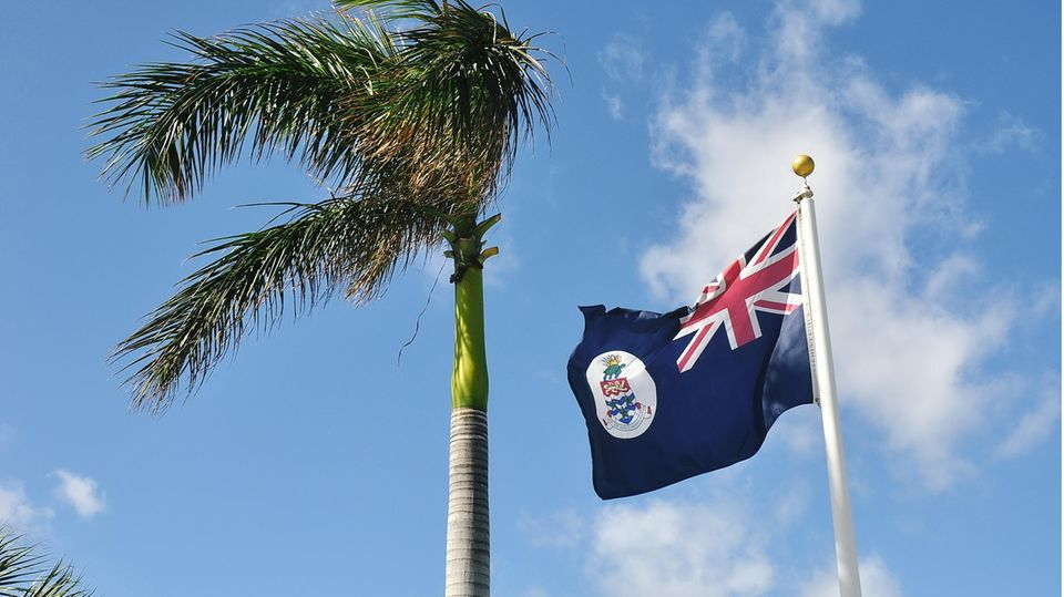 Die Flagge der Cayman Islands