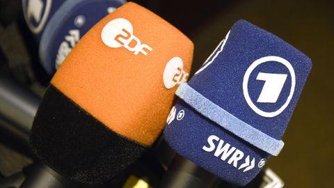 Mikrofone von ARD und ZDF