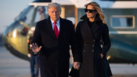 US-Präsident Donald Trump und First Lady Melania Trump.