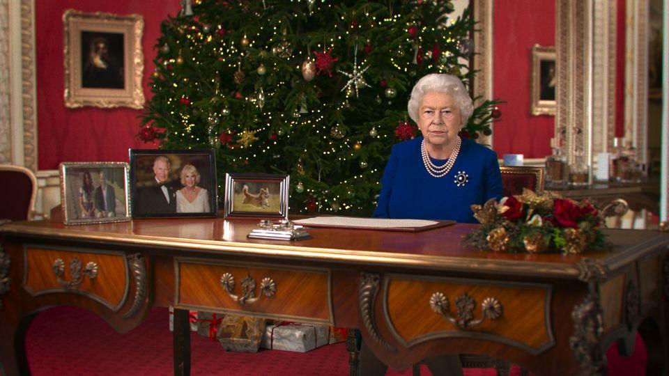 """Ein Foto einer digital erstellten """"Deepfake""""-Version von Queen Elizabeth II"""