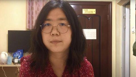 Ein Screenshot aus einem Video der Bloggerin Zhang Zhan