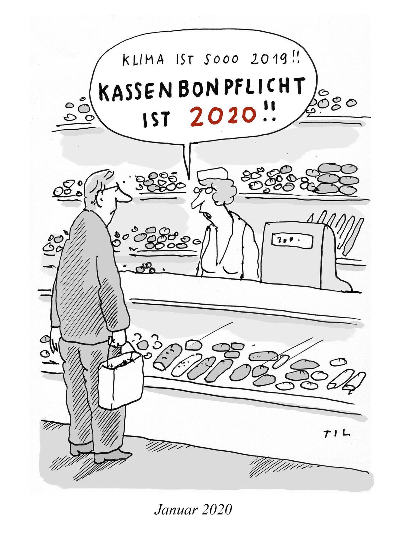 stern-Zeichner: Zwanzigzwanzig in zwanzig Cartoons von Til Mette