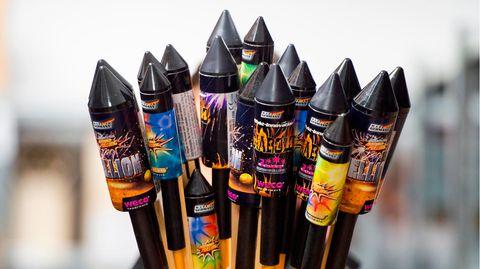 Feuerwerksraketen der Firma Weco