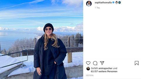 Dieses Winterfoto postete Sophia Thomalla auf Instagram