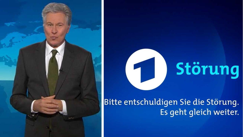 """""""Tagesschau""""-Moderator Claus-Erich Boetzkes; ARD-Störungsbild"""