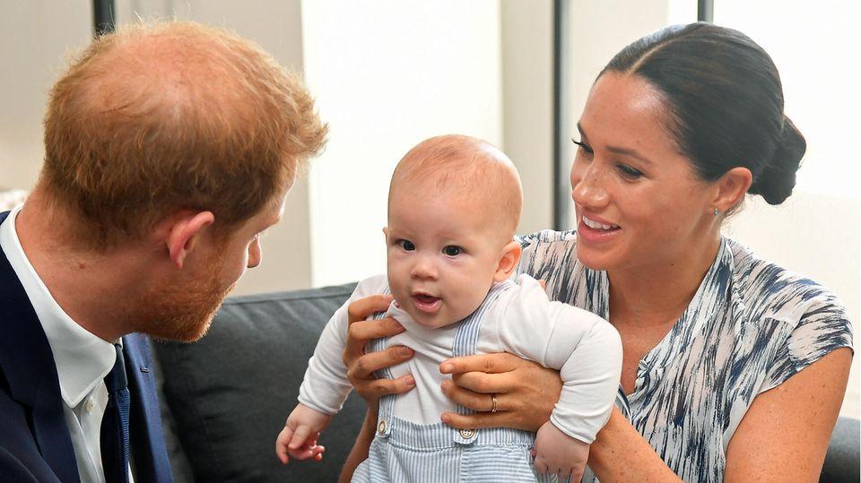 Prinz Harry und Ehefrau Meghan mit Söhnchen Archie im September 2019 auf einer Südafrika-Rundreise
