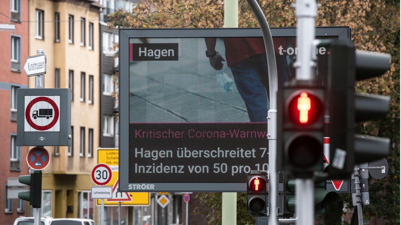 Eine Straßenszene in Hagen
