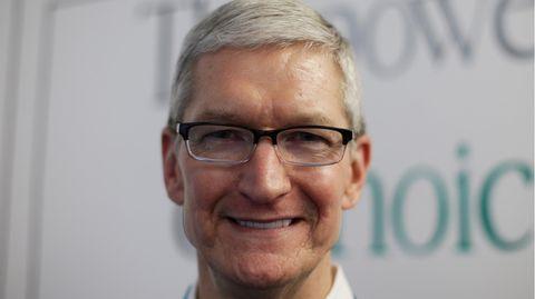 Hat angesichts glänzender Zahlen Grund zur Freude: Apple-Chef Tim Cook