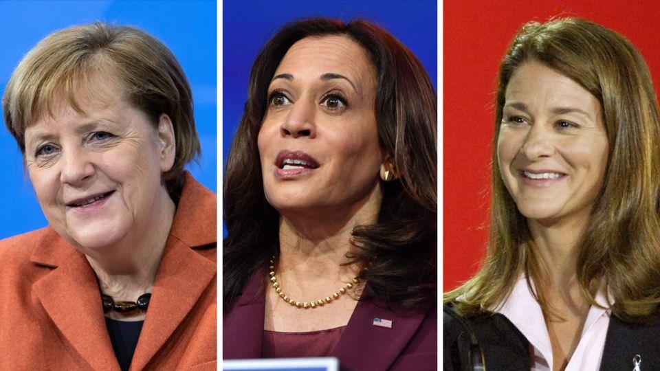 Angela Merkel, Kamala Harris, Melinda Gates