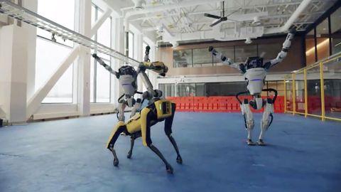 Roboter von Boston Dynamics tanzen
