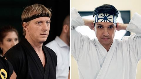 Alte Rivalen: Johnny Lawrence (William Zabka, l.) und Daniel LaRusso (Ralph Macchio)