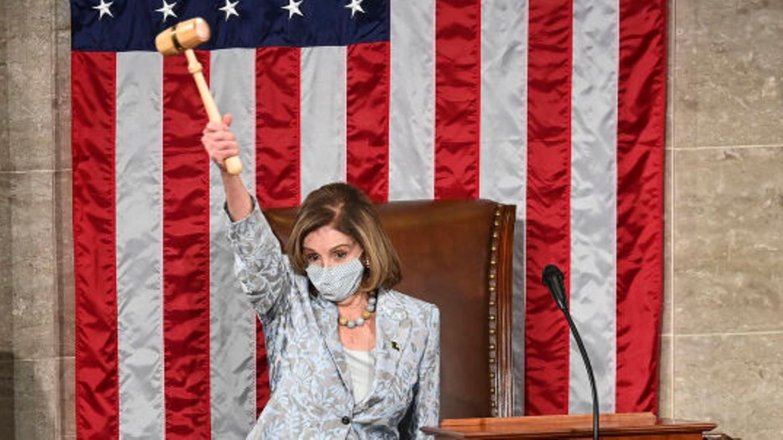 Nancy Pelosi, Sprecherin des Repräsentantenhauses der USA, leitet den Eröffnungstag des neuen US-Kongresses.