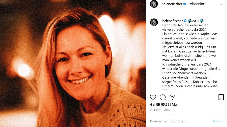 Vip News: Helene Fischer zeigt sich ungeschminkt bei Instagram