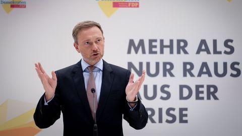 """FDP-Chef Christian Lindner: """"Wir stehen in jeder Hinsicht besser da als ein Jahr vor der letzten Bundestagswahl."""""""