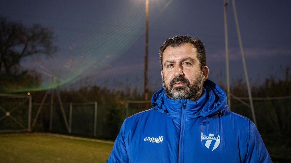Jim Antonakas, Präsident des Aiolikos FC, hat große Pläne. Talentierte Flüchtlinge will er fördern – und nutzen