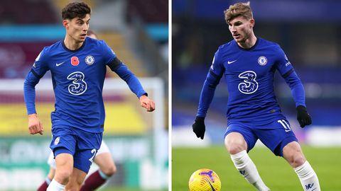 Die teuersten Transfers des FC Chelsea: Kai Havertz und Timo Werner (r.)