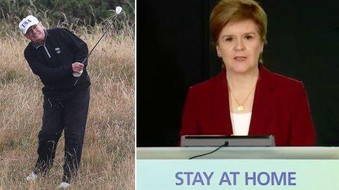 Will Trump Bidens Amtseinführung schwänzen? Schottland Regierungschefin erteilt harsche Absage