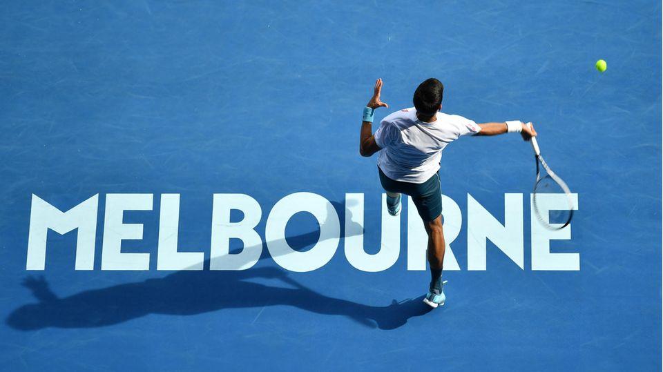 Novak Djokovic bei den Australian Open