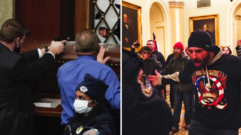 USA: Rangeleien vor dem Kapitol - Demonstranten im Gebäude