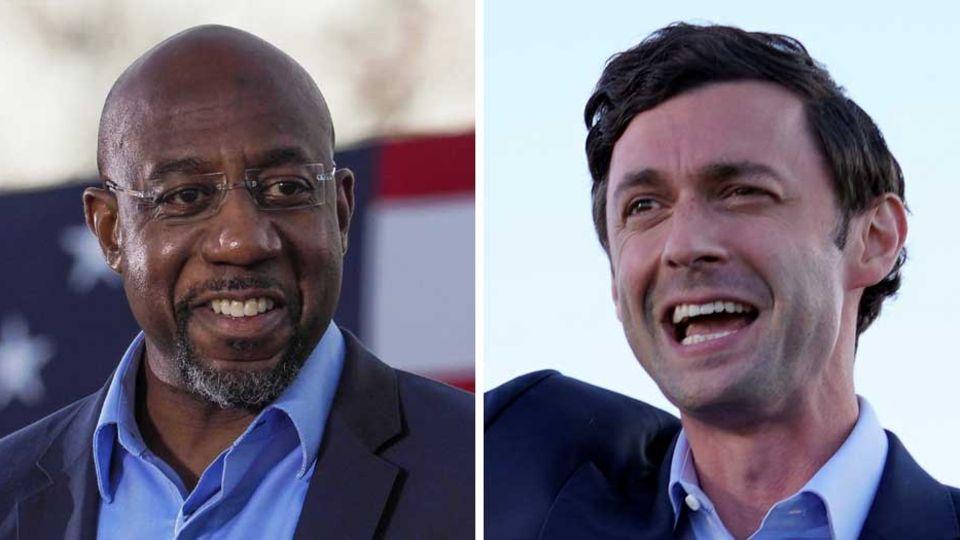 Demokratische Sieger inGeorgia: Raphael Warnock und Jon Ossoff