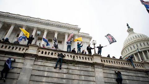 Trump-Anhänger stürmen am Mittwoch das US-Kapitol in Washington DC