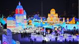 Wegen Corona wurden große Shows in diesem Jahr gestrichen. Daher besuchen auch weniger Menschen die Eislandschaften.