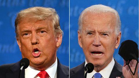 US-Präsident Donald Trump (l.) und sein gewählter Nachfolger Joe Biden