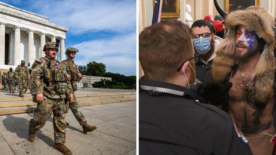 Polizisten vor Kapitol – Trump-Anhänger stürmen Kapitol