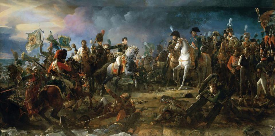 Die Schlacht von Austerlitz vonFrançois Gérard.