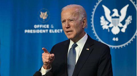 Joe Biden spricht in Wilmington
