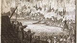 """9. Januar 1713: Als Altona im """"Schwedenbrand"""" unterging  Heute ist Altona nur einervon vielen Stadtteilen Hamburgs.Mit rund 12.000 Einwohnern war die Stadt jedoch im Jahr 1710die zweitgrößteinnerhalb des damaligenDänischen Gesamtstaates– und den Schweden ein Dorn im Auge.Im Zuge desGroßen Nordischen Kriegessetzten schwedische Soldatenam 9. Januar 1713 unter dem Befehl des schwedischen GeneralsStenbockAltona in Brand. Das Feuer wurde planmäßig gelegt und die Stadt Haus für Haus niedergebrannt. Etwa 60 Prozentder Gebäude wurden zerstört. Außer der StraßePalmailleerinnert heute so gut wie nichts mehr an das Altona vor dem """"Schwedenbrand"""".  Das Bild zeigt einenKupferstich aus dem Jahr 1719, das die Verwüstung der Stadt durch die Flammen abbildet."""