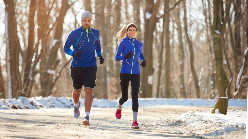 Im Winter ist Laufbekleidung wichtig