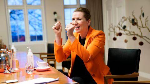 Freute sich über die ersten Corona-Impfungen in ihrem Land: Ministerpräsidentin Mette Frederiksen